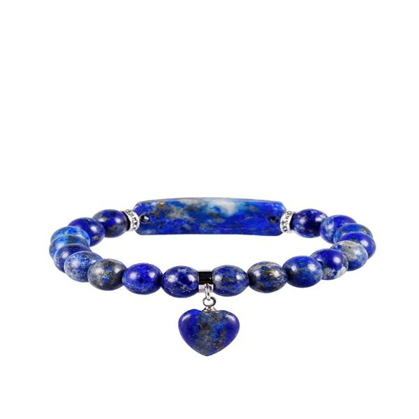 Lapis Lazuli Beads Bracelet With Heart