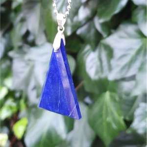 Best Triangle Pendant Necklace Lapis Lazuli