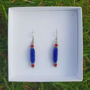 Lapis Lazuli hexagonal prism Earrings