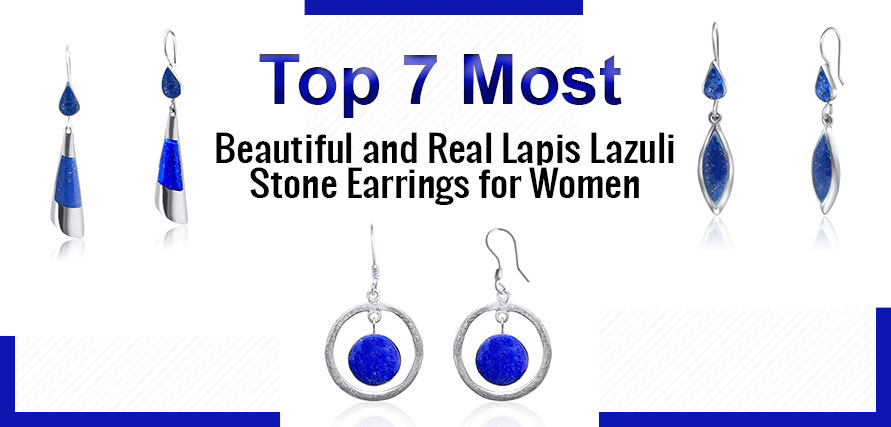 7 Most Beautiful and Real Lapis Lazuli Stone Women Earrings
